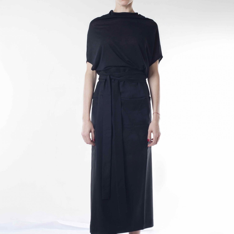 FW19SKR-2_Shen Skirt_ Black_Front